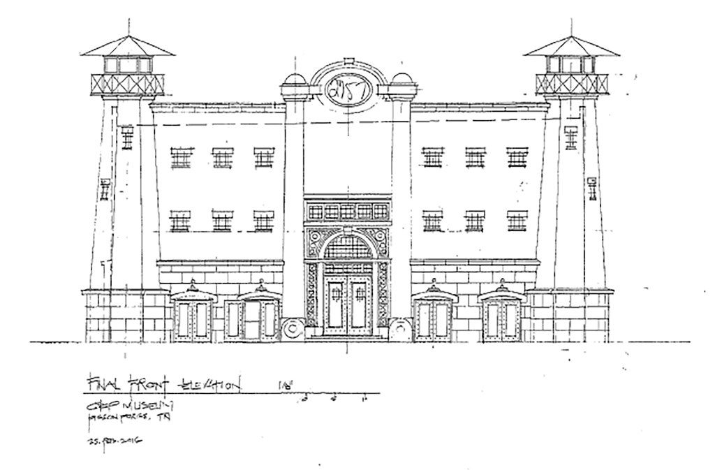 Drawings of the Alcatraz East Museum